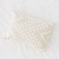 Elyse Embroidered Lumbar Pillow | Urban Outfitters