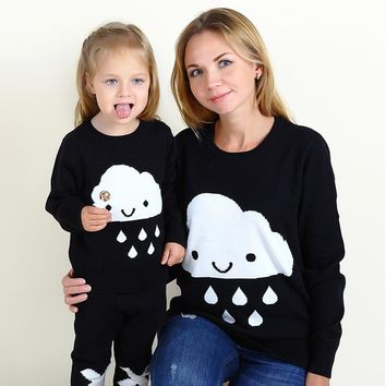 Mother And Daughter Pullovers Sweater
