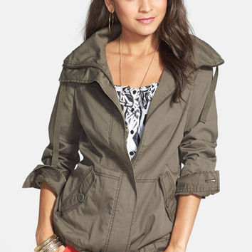 RUBBISH | Rubbish Drawstring Waist Twill Jacket (Juniors) | Nordstrom Rack