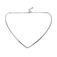 V-Cut Collar Necklace