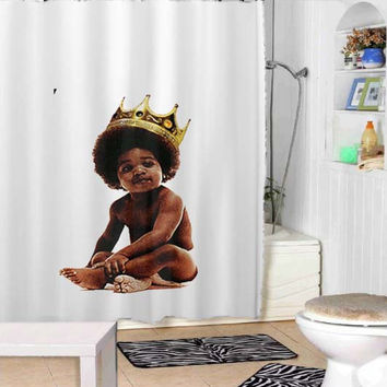 Big notorious notorious big biggie smalls shower curtains adorabel bathroom and heppy shower.