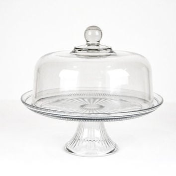 Vintage Cake Stand  With Dome Lid  / Wedding Gift / Wedding Cake Stand