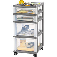 IRIS 26'' 4-Drawer Cart; Black