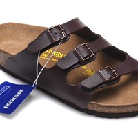 Men's and Women's BIRKENSTOCK sandals Florida Soft Footbed Birko-Flor 632632288-060