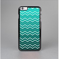 The Teal Gradient Layered Chevron Skin-Sert for the Apple iPhone 6 Plus Skin-Sert Case