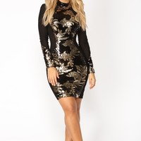 Like A Goddess Mini Dress - Black