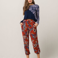 SKY AND SPARROW Paisley Womens Jogger Pants