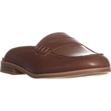 naturalizer Villa Backless Penny Loafers, Saddle Tan, 6 W US