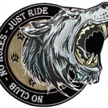No Club No Rules Just Ride Large Biker Back Patch