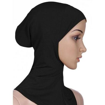 DCCKWJ7 2016 New Arrivals 7 ColorS Muslim Style Full Cover Inner Cotton Hijab Cap Islamic Turban Head Wear Hat Underscarf Hijab