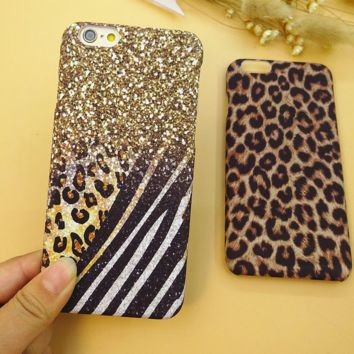 Unique Leopard Solid Case Cover for iPhone 6 6s Plus Gift