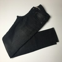 True Religion stone washed black denim skinny jeans sz 26