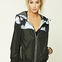 Active Floral Print Windbreaker
