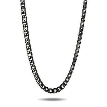 12mm Pradino Chain in Black Gold