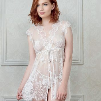 Eyelash Lace Bridal Babydoll