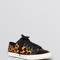 Tory Burch Flat Lace Up Sneakers - Marin Leopard Print