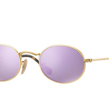 Ray-Ban OVAL FLAT LENSES Gold, RB3547N | Ray-Ban® USA