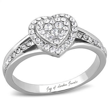 A 2.26TCW Heart Halo Lab Diamond Split Shank Promise Ring
