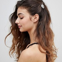 ASOS DESIGN pack of 3 concho disc hair clips at asos.com