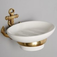Brass Anchor Soap Dish by Anthropologie in Antique Gold Size: Soap Dish Hardware