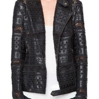 Willow & Clay Eyelet Faux Leather Jacket | Nordstrom