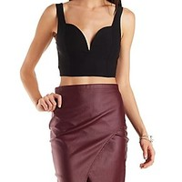 SWEETHEART PLUNGE CROP TOP