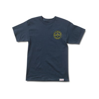 Stamped Tee in Navy