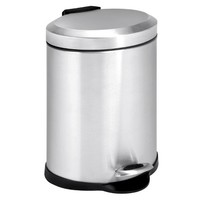 Honey-Can-Do 1.3 Gallon Oval Stainless Step Can