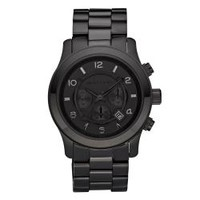 Michael Kors Men's MK8157 Black Stainless-Steel Quartz Watch with Black Dial