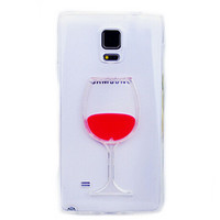 Red Wine Glass Phone Case Cover Samsung Galaxy S5 I9600 S6 Note 3 Note 4 Models Transparent