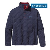 Patagonia Diamond Quilt Snap-T® Pullover   Classic Navy