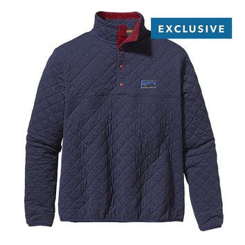 Patagonia Diamond Quilt Snap-T® Pullover | Classic Navy