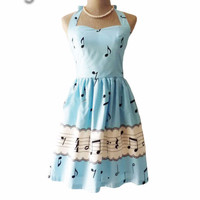Sweet Music Note Party Dress