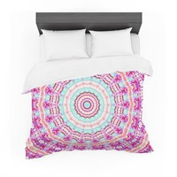 "Iris Lehnhardt ""Happy"" Circle Pink Featherweight Duvet Cover"