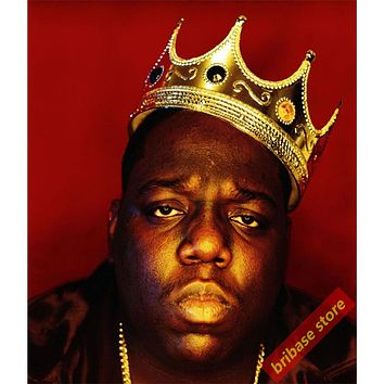 Rapper singer Biggie Smalls Pictures Silk Poster The Notorious B.I.G. album cover posters painting home living room deco Gift