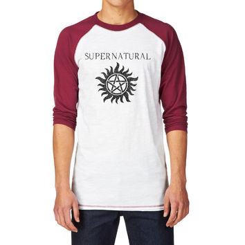 Supernatural Anti-Possesion Symbol Unisex Baseball T Shirt, Supernatural Tee