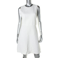Theory Womens Raneid K Knit Textured Wear to Work Dress