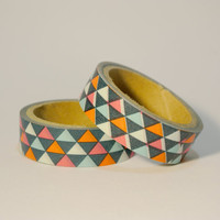 Colour Triangles Washi Tapes / Japanese Masking Tapes
