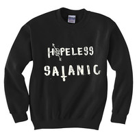 Hopeless Satanic - Occult -Grunge Style - Sweatshirt - Inverted cross -Pentagram