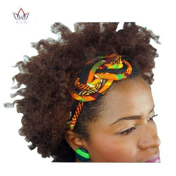 DCCKH0D New Vintage Women Headbands Hair Accessories Beads African Printed Wax Headbands for Women Colorful Hair Sticks Hairbands WYS02