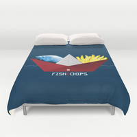 FishNChips Duvet Cover by Matt Irving