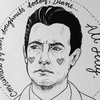 Special Agent Dale Cooper Twin Peaks - A4 print
