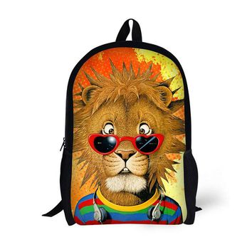 17-inch student bag laptop backpack school bag Cool pattern cartoon characters