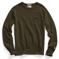 Classic Pocket Sweatshirt in Olive