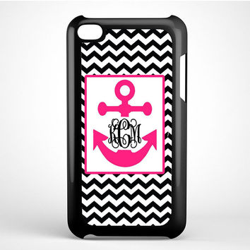 Monogram Anchor Wallpaper Ipod Touch 4 Case