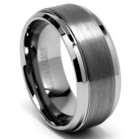 9MM High Polish / Matte Finish Men's Tungsten Ring Wedding Band Sizes 6 to 15