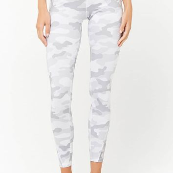 Active Camo Sheer Mesh Panel Leggings