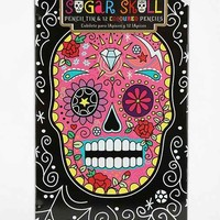 Sugar Skull Color Pencils- Set Of 12- Assorted One