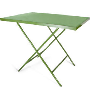 Powder-Coated Steel Folding Table (Green)