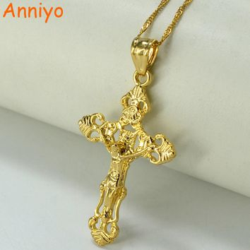 Jesus Christ Cross Pendant Necklace Women or Men Christianity Crucifix Religious confirmation communion gift